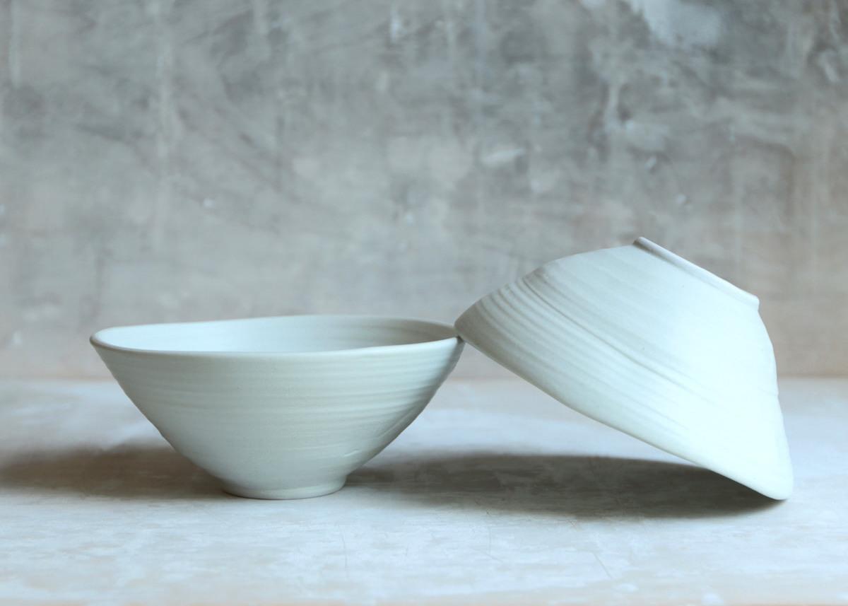 2 all purpose bowl porcelain ... wabi sabi - Marjoke de Heer Keramiek Atelier