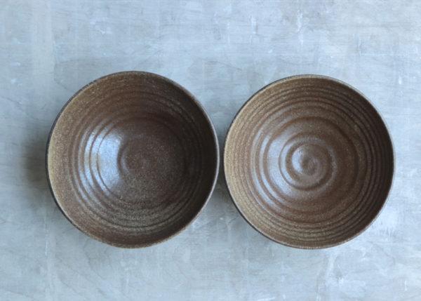 2 all purpose bowls natural brown black ... wabi sabi - Marjoke de Heer Keramiek Atelier