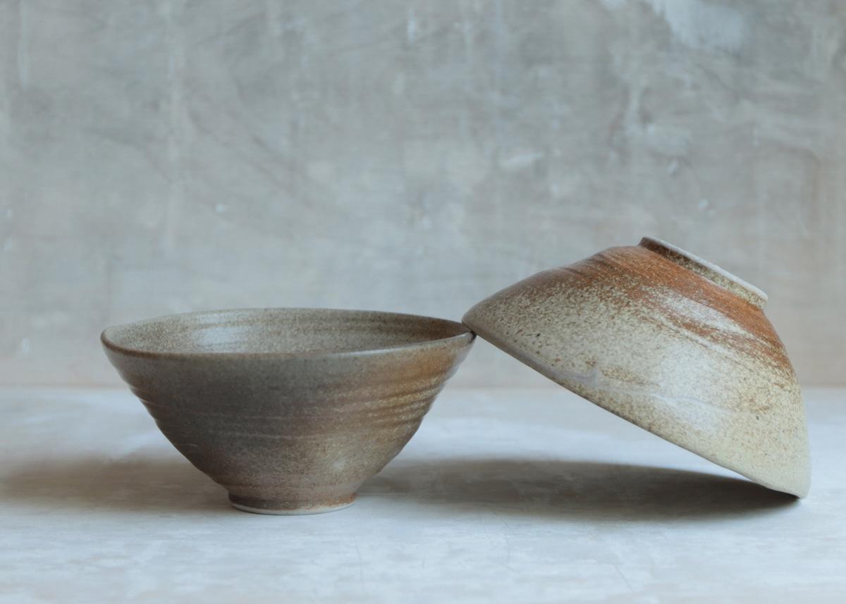2 all purpose bowls natural shades & hues ... wabi sabi - Marjoke de Heer Keramiek Atelier