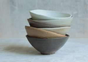 6 all purpose bowls landscape ... wabi sabi - Marjoke de Heer Keramiek Atelier