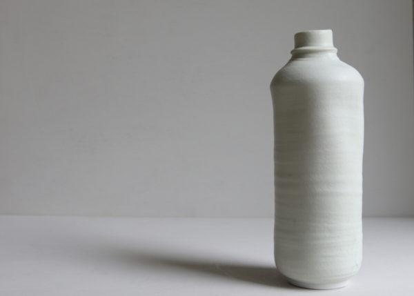 Bottle vase porcelain found object 1 - Marjoke de Heer Keramiek Atelier