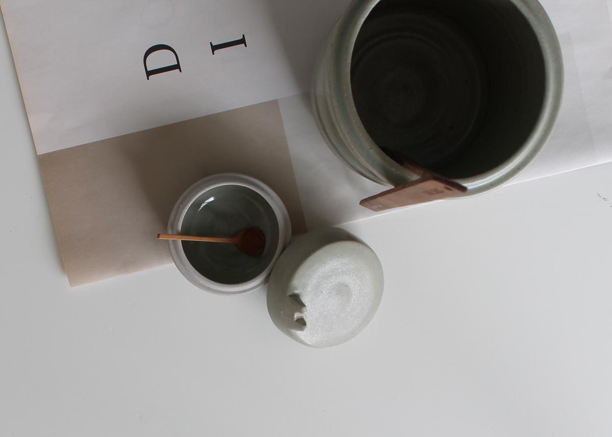 Ladle pot and salt pot Ceramics Marjoke de Heer