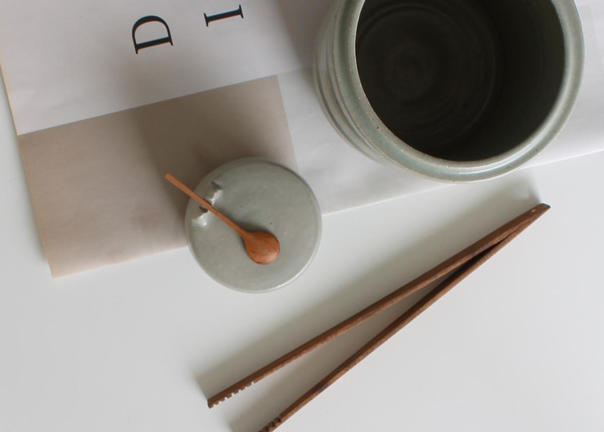 Ladle and salt pot Ceramics Marjoke de Heer