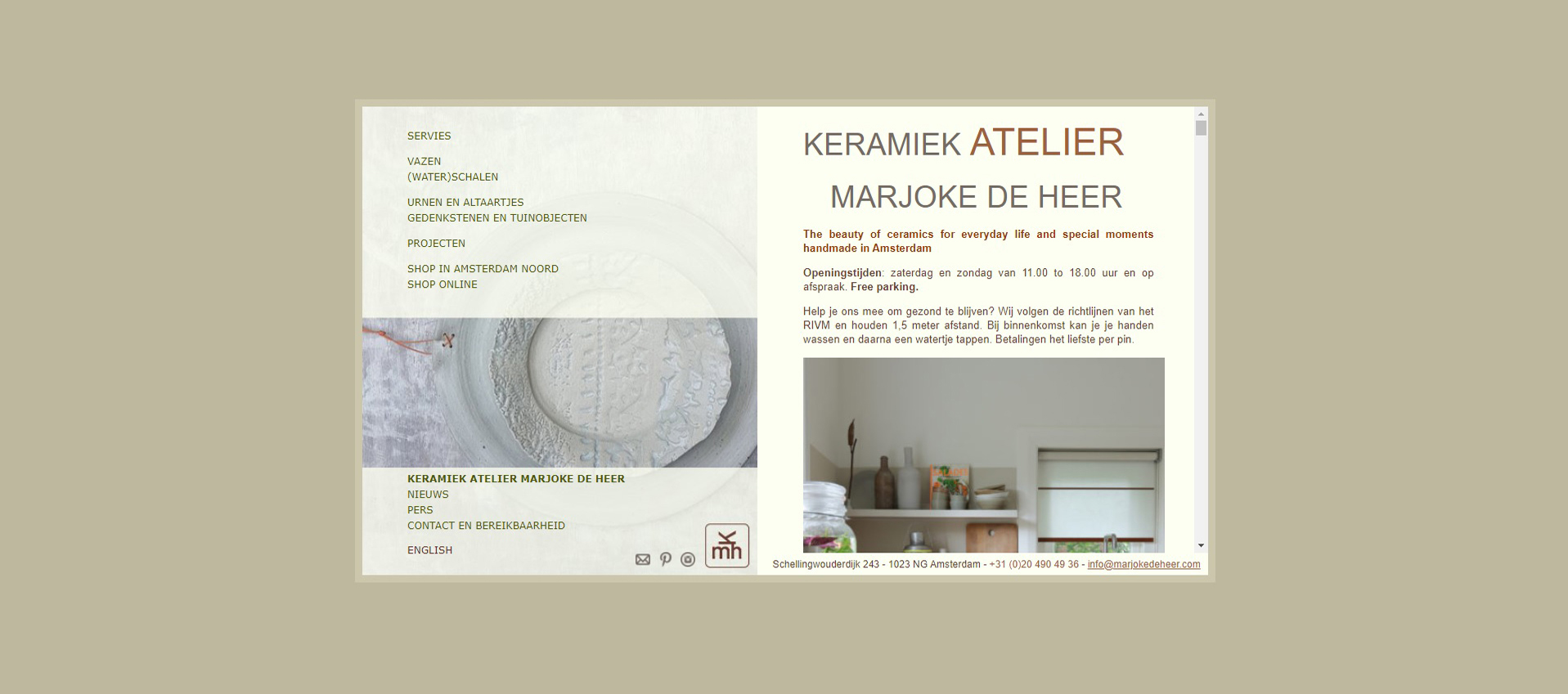 Nieuwe website - Marjoke de Heer Keramiek Atelier