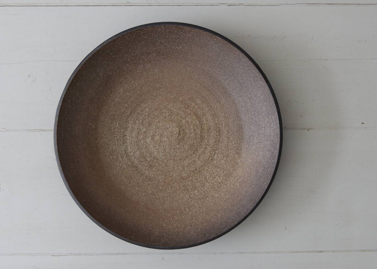 XL (water) bowl burnt brown - Marjoke de Heer Keramiek Atelier