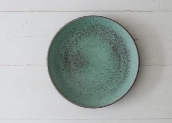 XL (water) bowl green & dark spots - Marjoke de Heer Keramiek Atelier