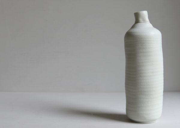 Bottle vase porcelain found object 2 - Marjoke de Heer Keramiek Atelier