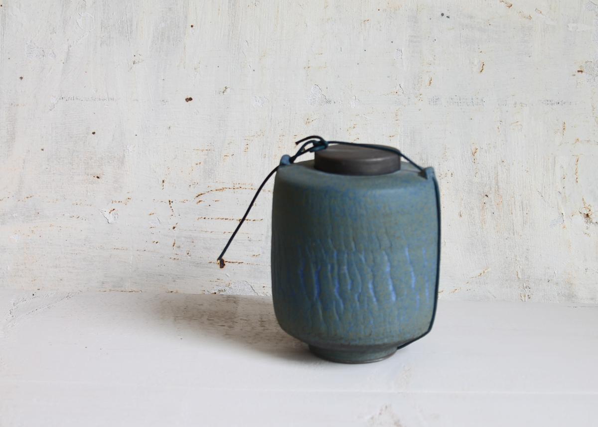 Mini urn Blue dreams - Marjoke de Heer Keramiek Atelier