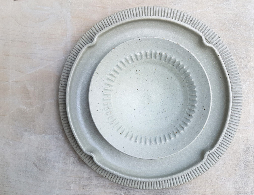 one of a kind plates - shades of white Marjoke de Heer