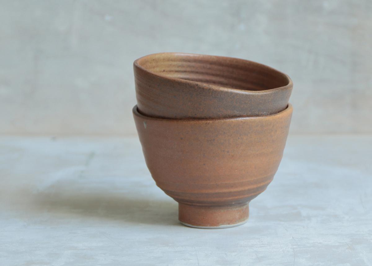 Tea bowls temmoku - Marjoke de Heer Keramiek Atelier
